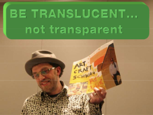 Mojo makes a slide about Transluscency